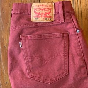 Levi's 514 Straight Leg Jeans - Rally Red